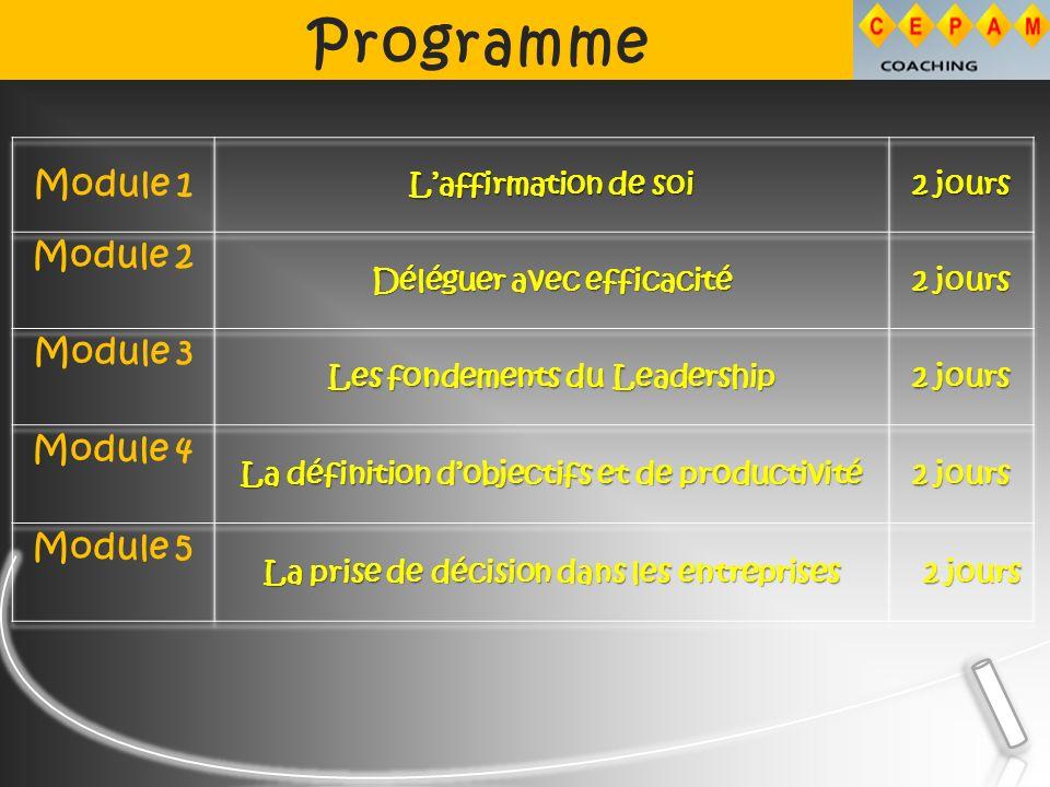 Programme JOUR 3 5.Organiser et donner la formation.