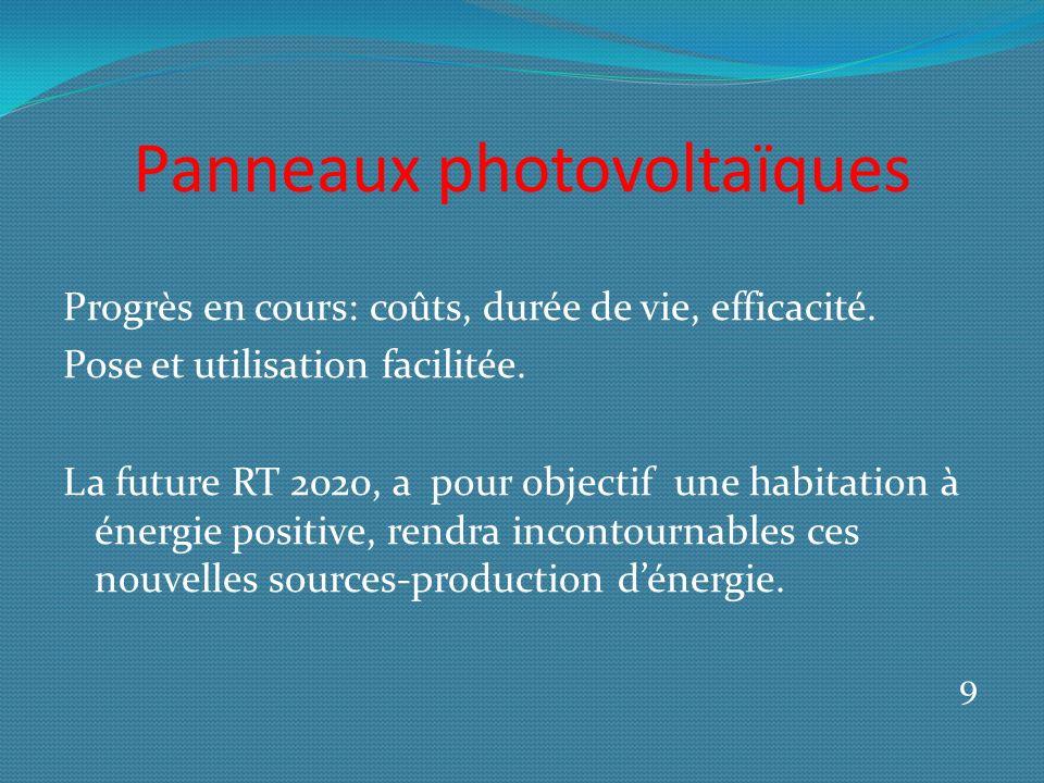 Panneaux photovoltaïques Progrès en cours: coûts, durée de vie, efficacité.