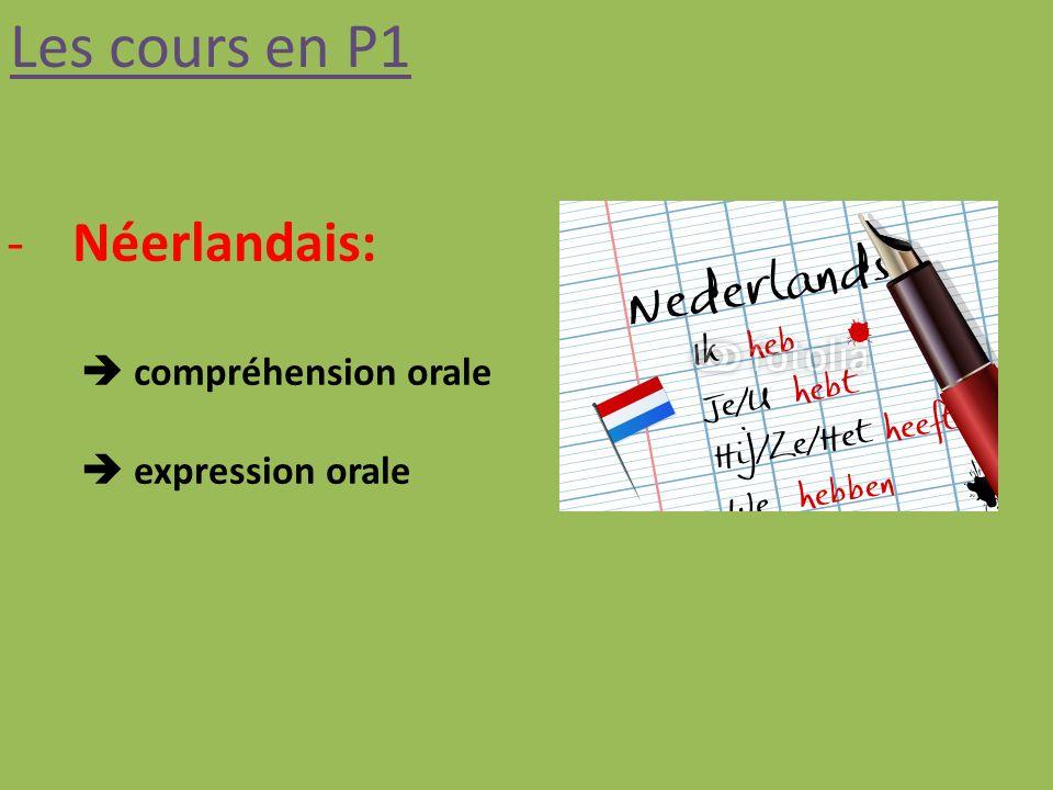 Les cours en P1 -Néerlandais: compréhension orale expression orale