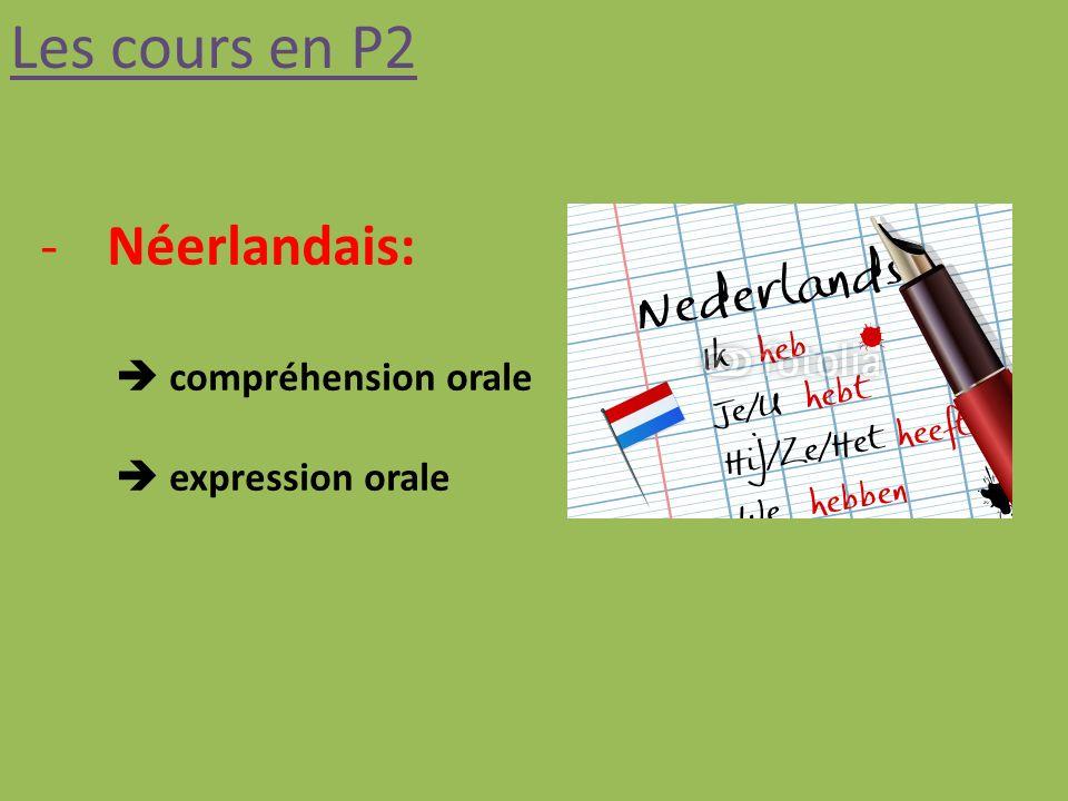 Les cours en P2 -Néerlandais: compréhension orale expression orale
