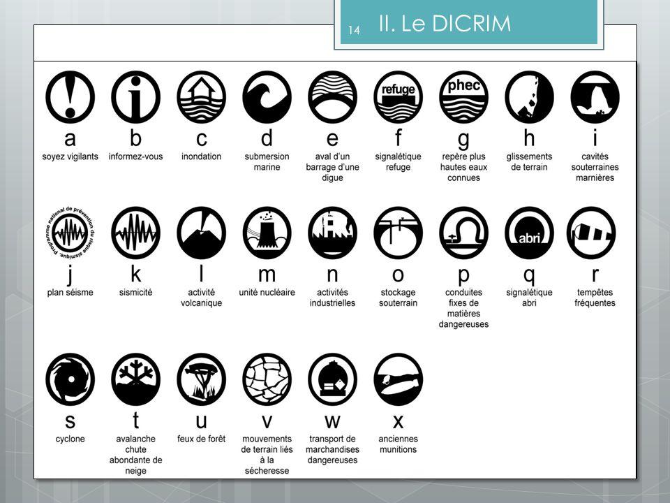 14 II. Le DICRIM