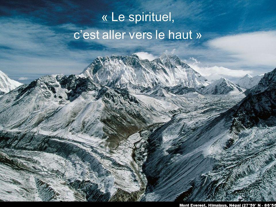 « Le spirituel est dans les profondeurs de lêtre »