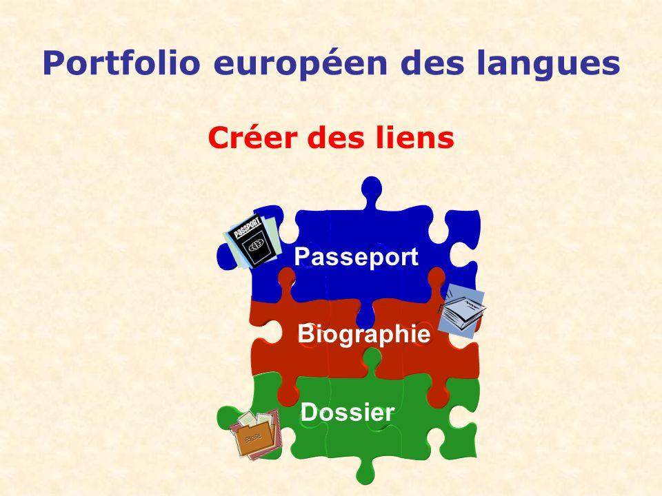 Portfolio européen des langues Créer des liens Passeport Biographie Dossier