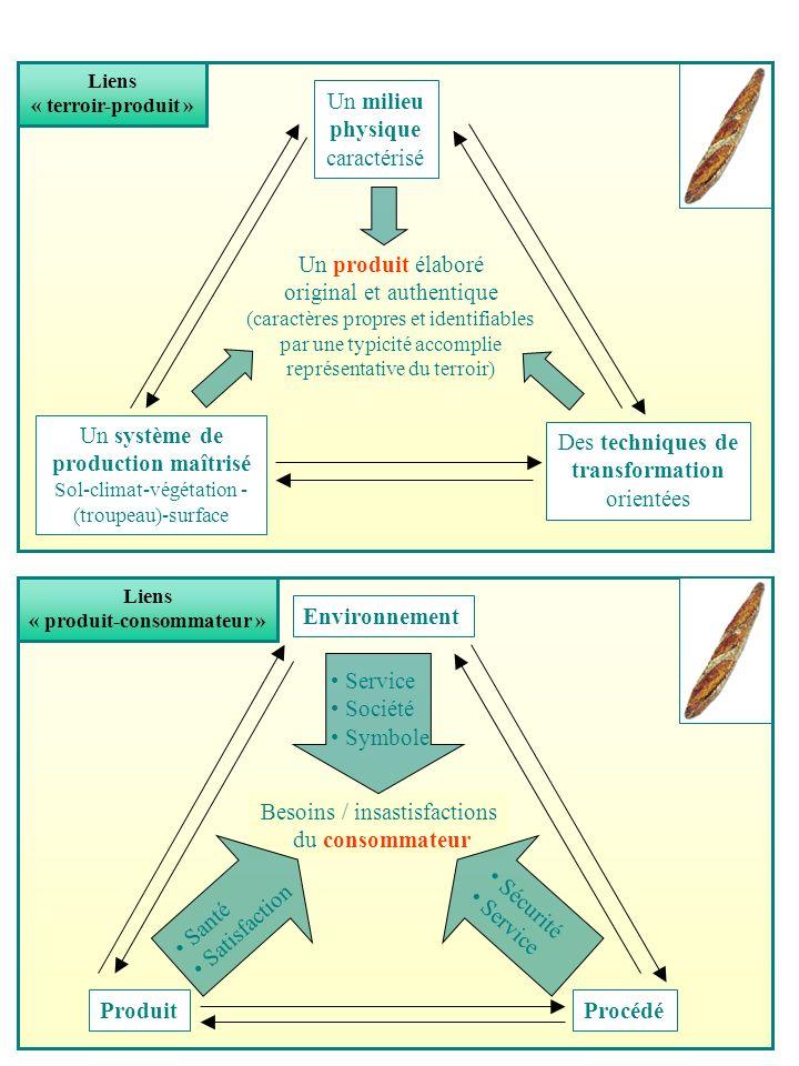 Les trois dimensions de la qualité (Neuville, 1996) Conformité : satisfaction des normes et des spécifications (objectives) du client Idonéité : satisfaction des attentes/ besoins du client (implicites, subjectifs, inconscients) Fiabilité : conservation dans le temps des caractéristiques de conformité et d idonéité (Caractéristiques objectives) (Propriétés subjectives) (Facteur temps) F Le temps est un facteur corrosif de la conformité (par effet d usure) et de l idonéité ( (par effets de mode et de concurrence) F La fiabilité est inversement corrélée à la conformité et à l idonéité (effets d obsolescence pré-cités)
