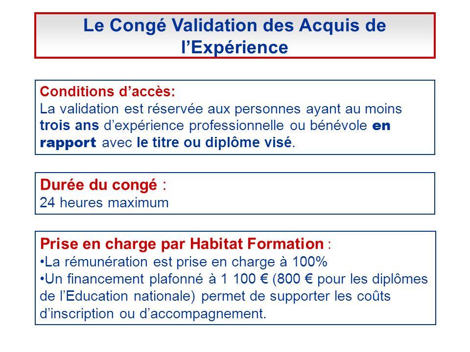 Conditions daccès: La validation est réservée aux personnes ayant au moins trois ans dexpérience professionnelle ou bénévole en rapport avec le titre