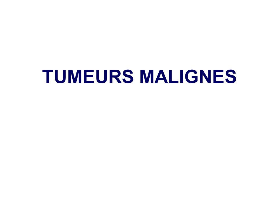 Tumeurs malignes conjonctives SARCOMES Préfixe selon la différenciation: Ostéo, lipo, rhabdomyo, leiomyo etc..