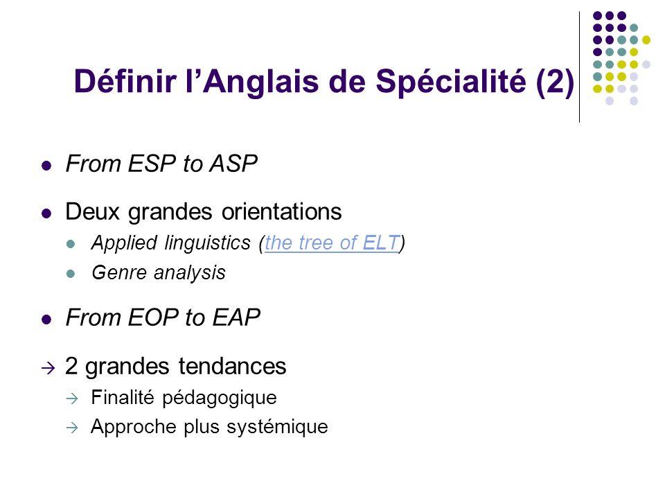 Comment définir lASP .Des « frontières » entre AG et ASP .
