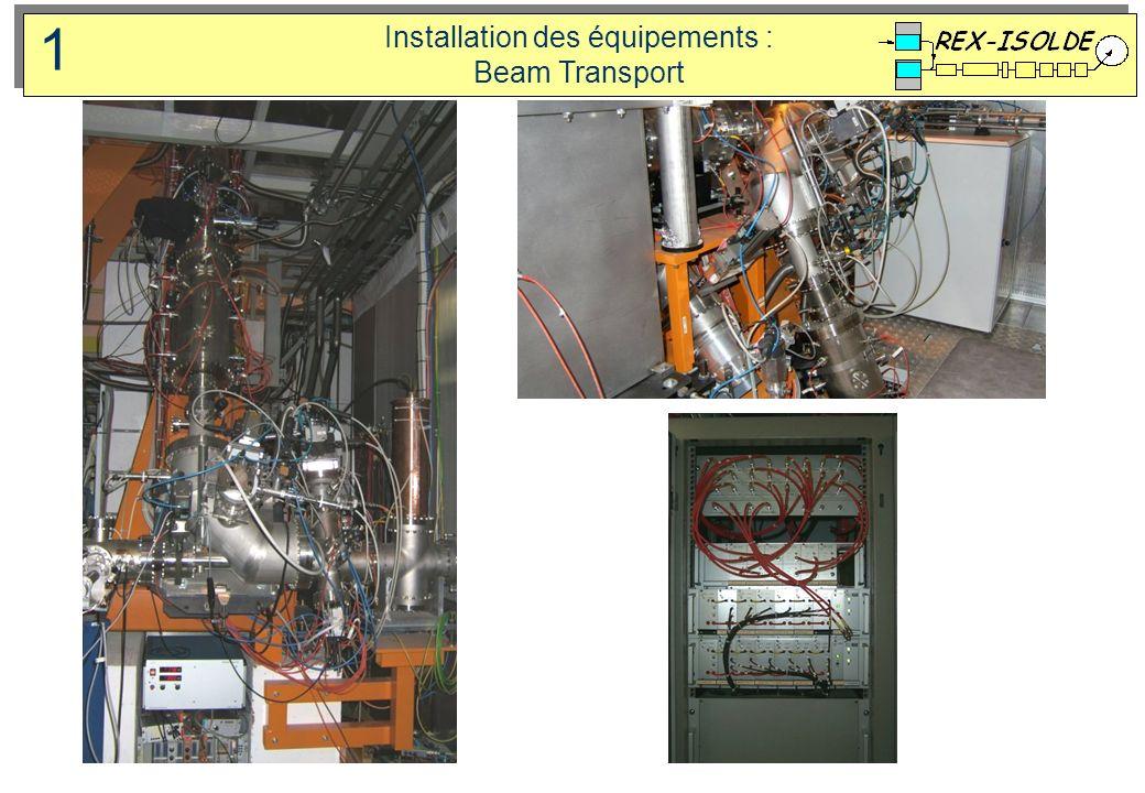 Installation des équipements : Beam Transport 1
