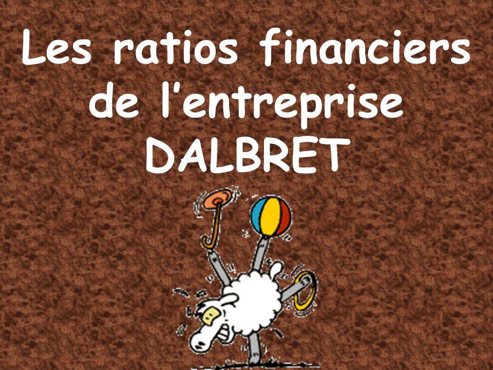 Les ratios financiers de lentreprise DALBRET