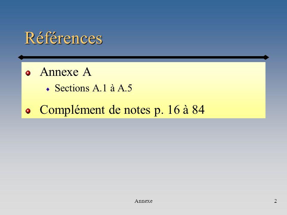 Annexe33 Létat des résultats… sur une période donnée PRODUITSCHARGES PRODUITS - CHARGES = BÉNÉFICES Produits - charges (coûts des ventes) Bénéfice brut Bénéfice imposable (TI) - frais généraux - Impôt Bénéfice net (NI) ER