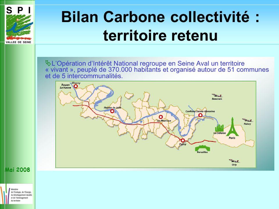 Mai 2008 Bilan Carbone collectivité : territoire retenu