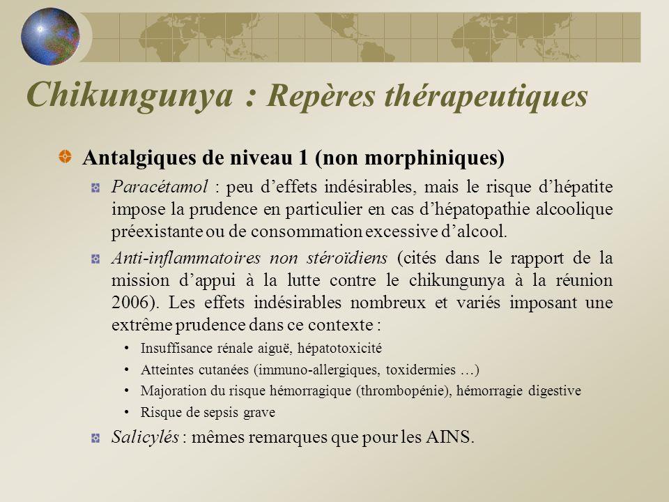 Antalgiques de niveau 1 (non morphiniques) Paracétamol : peu deffets indésirables, mais le risque dhépatite impose la prudence en particulier en cas d