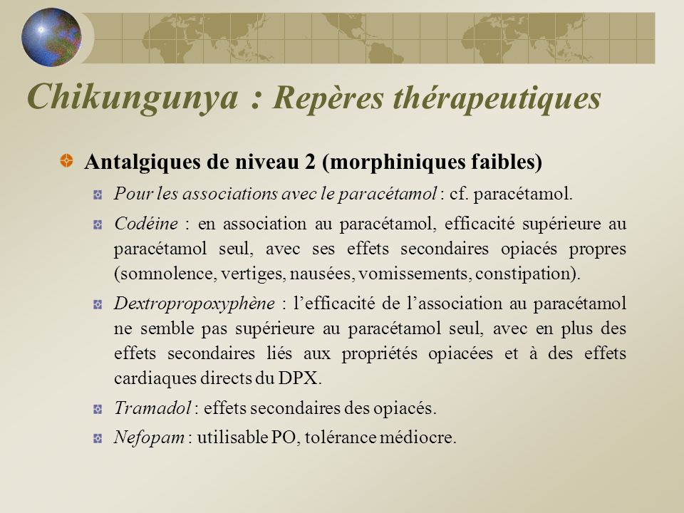 Antalgiques de niveau 3 (morphiniques forts) Les effets des opiacés sur le fonctionnement des centres respira- toires ont une traduction clinique chez linsuffisant respiratoire chronique ou en cas de surdosage.
