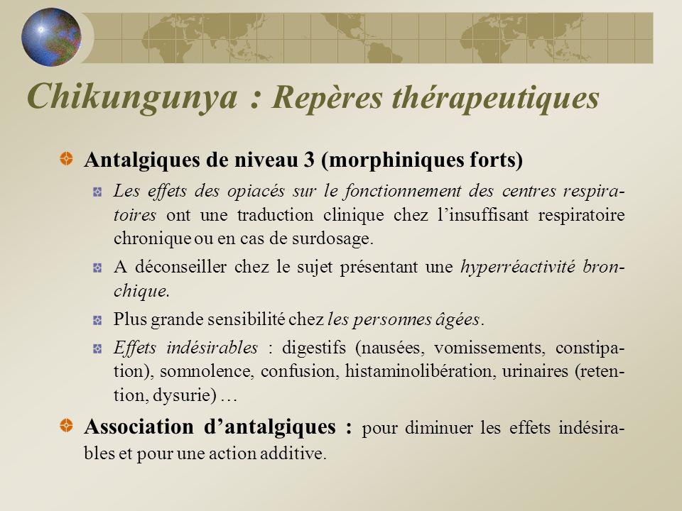 Antalgiques de niveau 3 (morphiniques forts) Les effets des opiacés sur le fonctionnement des centres respira- toires ont une traduction clinique chez
