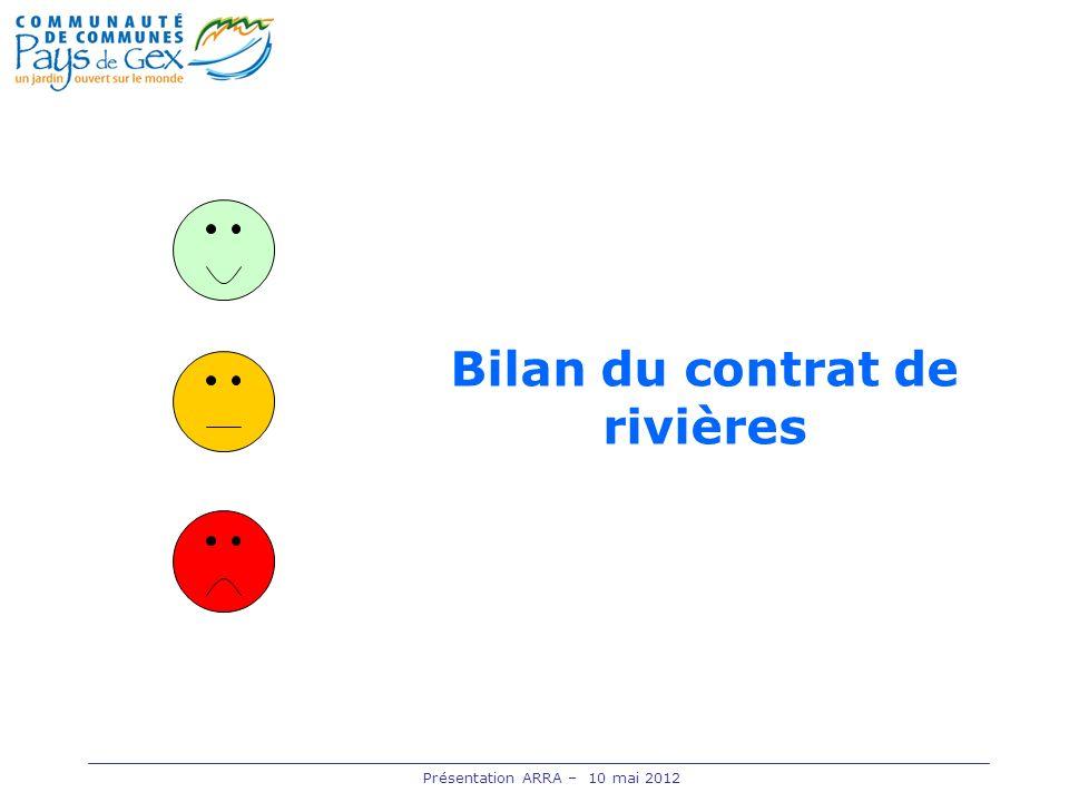 Bilan du contrat de rivières
