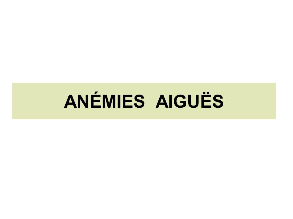 ANÉMIES AIGUËS