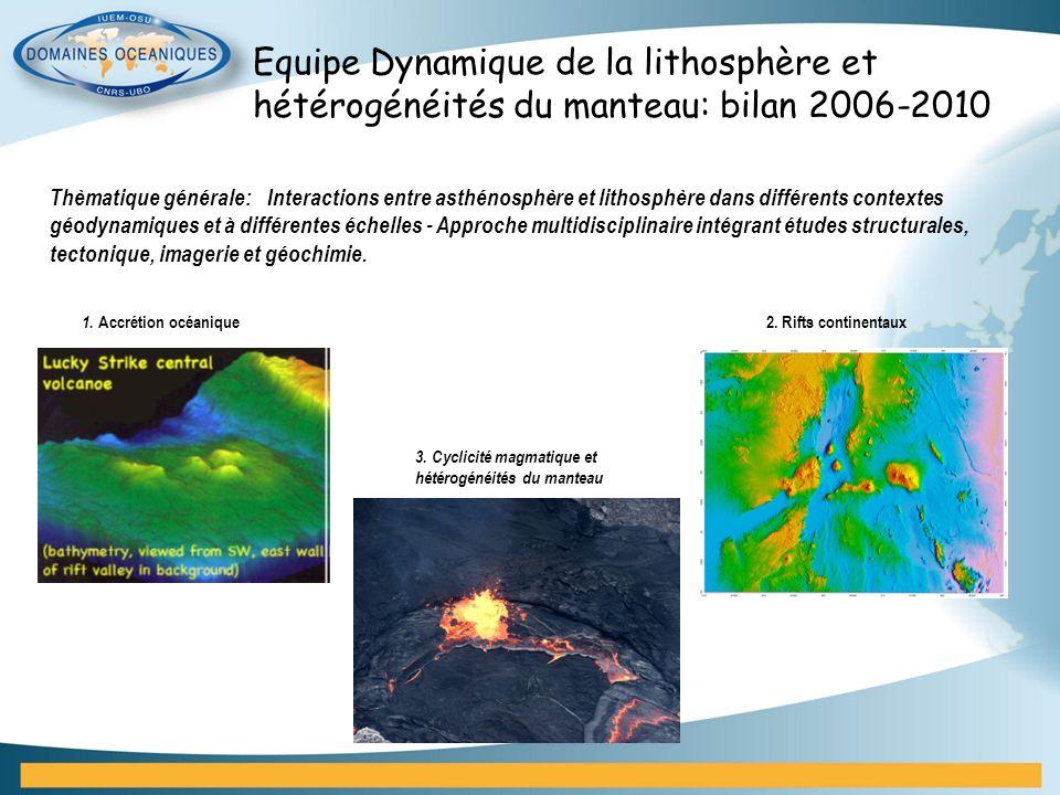 Equipe Dynamique de la lithosphère et hétérogénéités du manteau: bilan 2006-2010 Thèmatique générale: Interactions entre asthénosphère et lithosphère