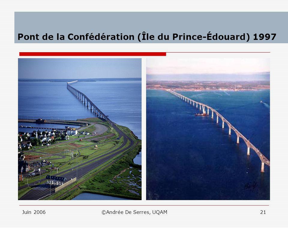 Juin 2006©Andrée De Serres, UQAM21 Pont de la Confédération (Île du Prince-Édouard) 1997