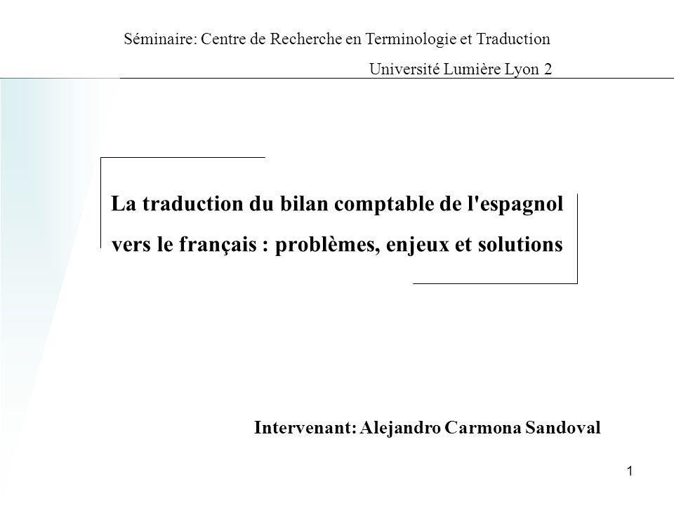 Analyse comaprative macrotextuelle : bilan comptable Application indirecte vers une strategie de traduction .