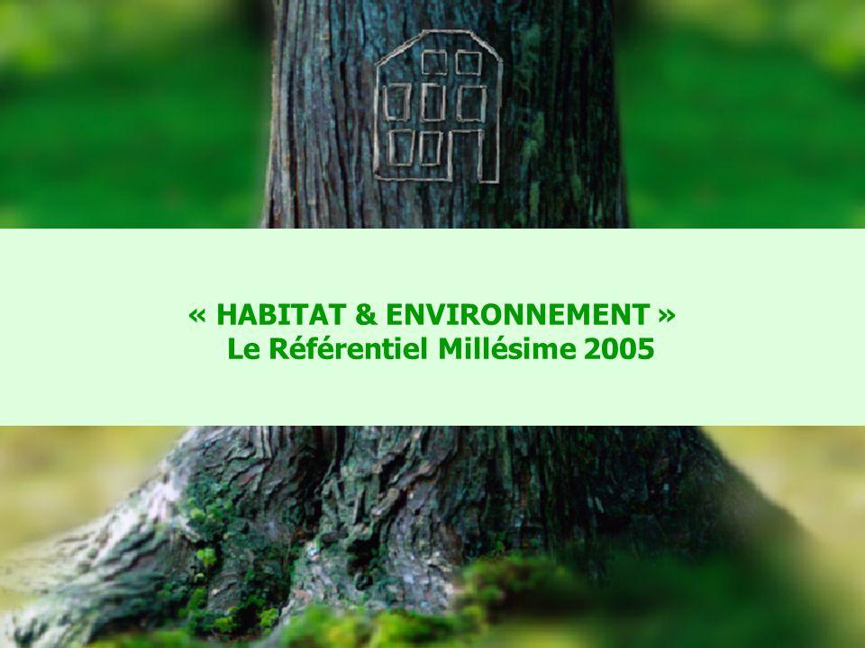 CERQUAL 14 « HABITAT & ENVIRONNEMENT » Le Référentiel Millésime 2005