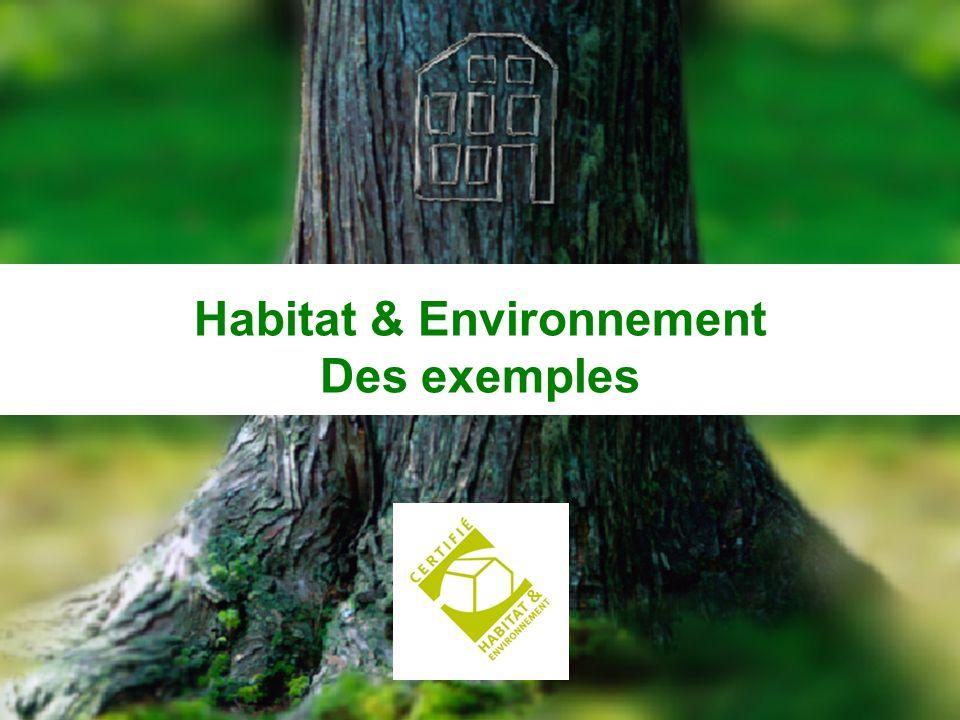 CERQUAL 49 Habitat & Environnement Des exemples