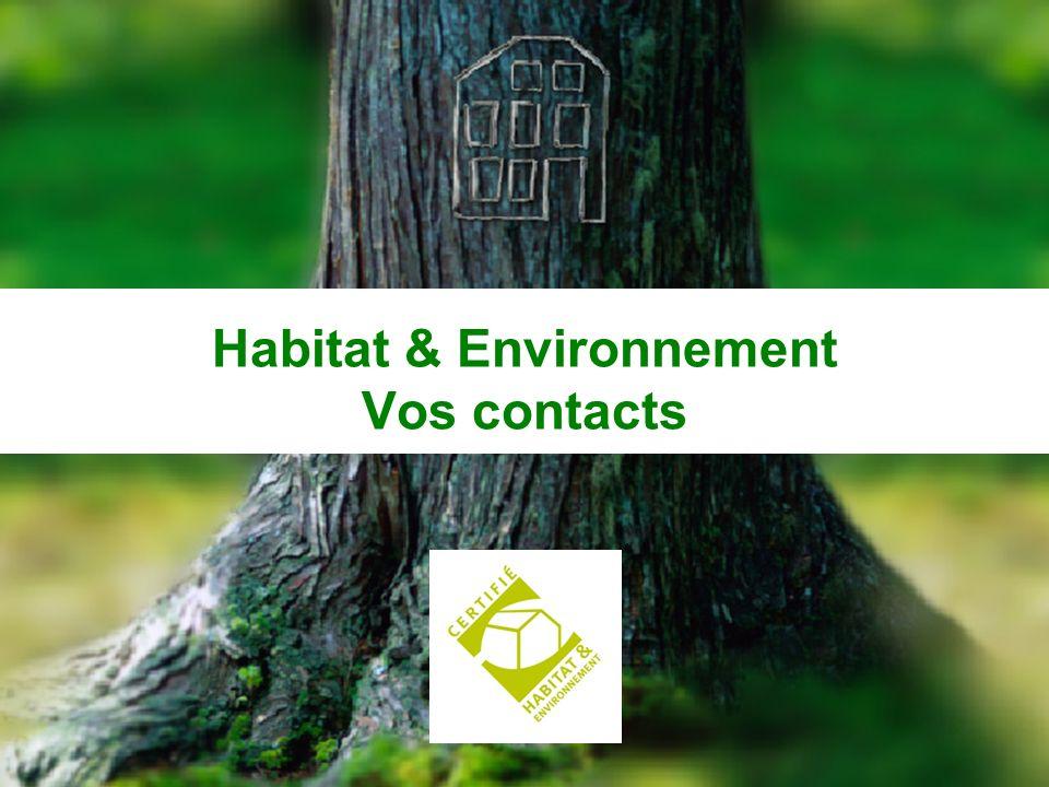 CERQUAL 55 Habitat & Environnement Vos contacts