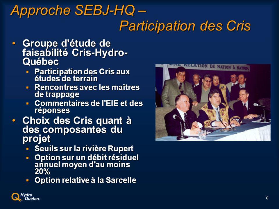 7 Cadre légal Régime de protection de l environnement et du milieu social (CBJNQ, chap.