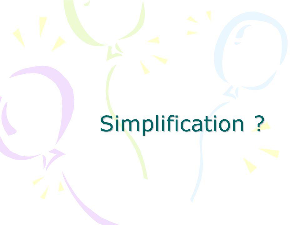 Simplification ?