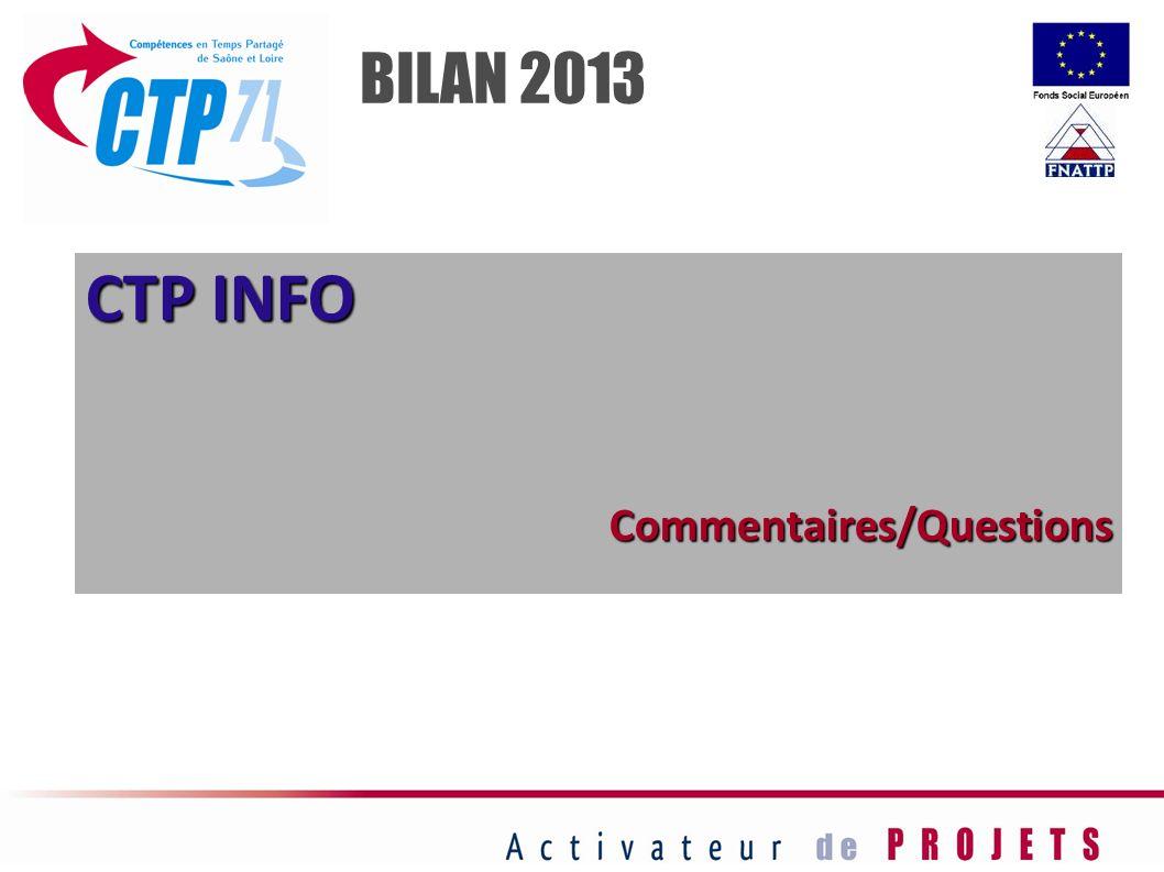 CTP INFO Commentaires/Questions BILAN 2013