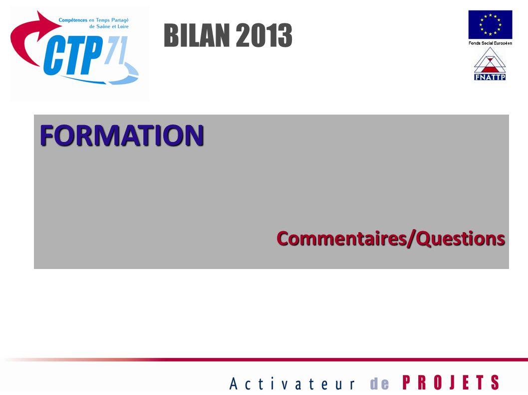 FORMATIONCommentaires/Questions BILAN 2013