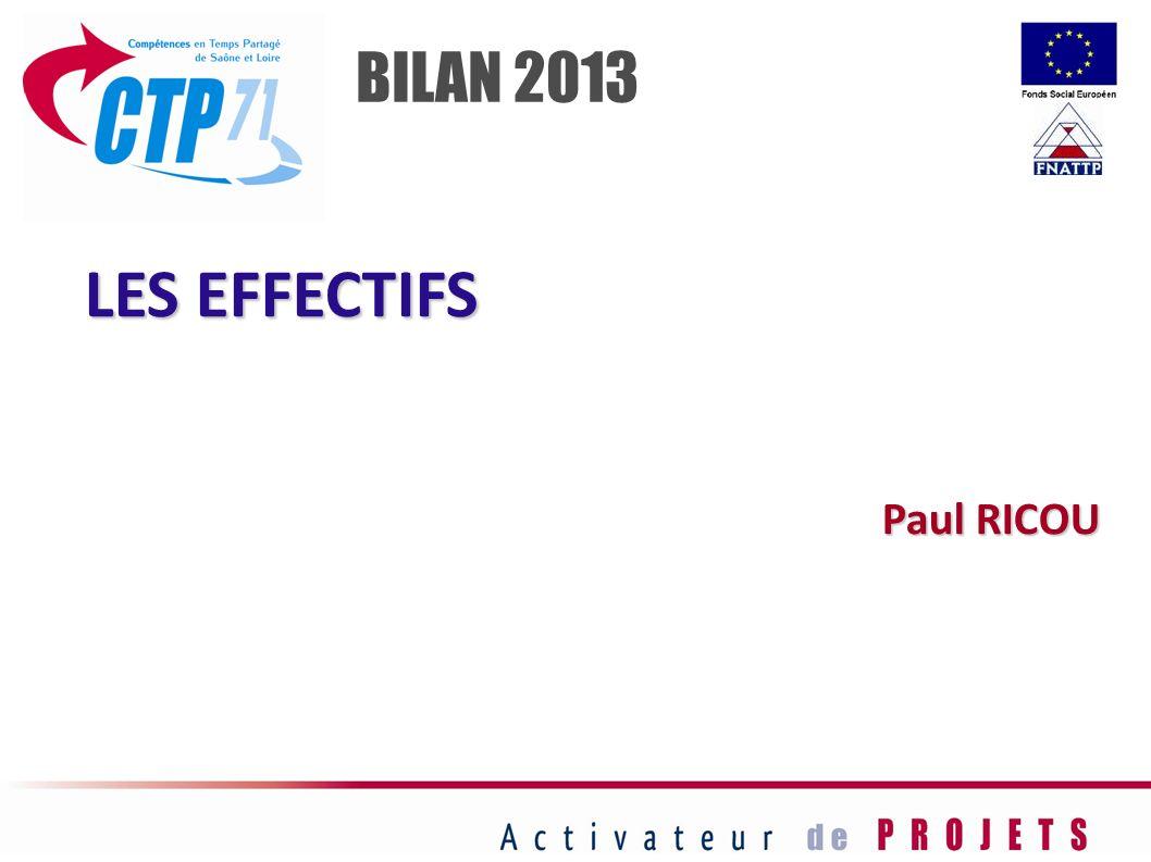 LES EFFECTIFS Paul RICOU BILAN 2013
