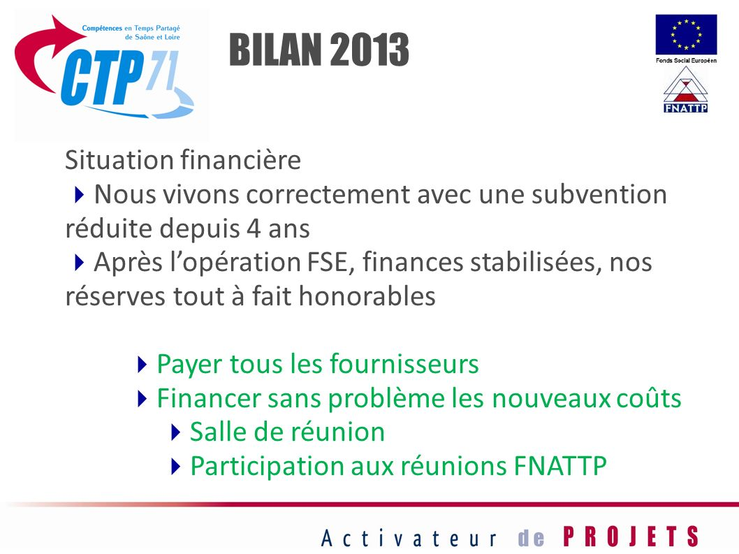 FORMATIONCommentaires/Questions BILAN 2013