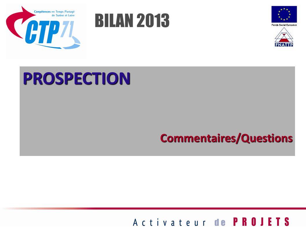 PROSPECTIONCommentaires/Questions BILAN 2013