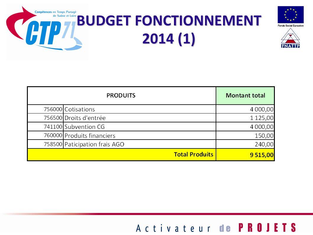 BUDGET FONCTIONNEMENT 2014 (1)