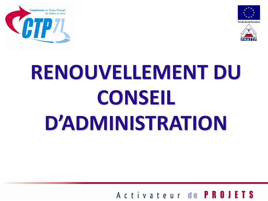 RENOUVELLEMENT DU CONSEIL DADMINISTRATION