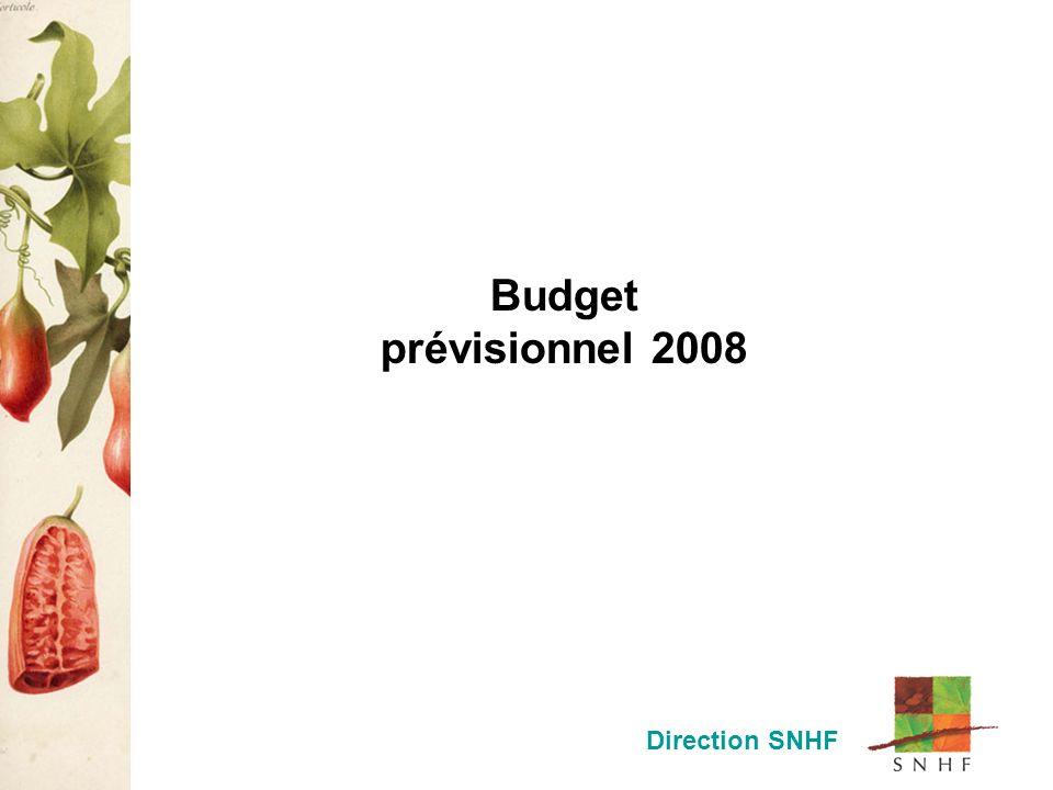 Budget prévisionnel 2008 Direction SNHF