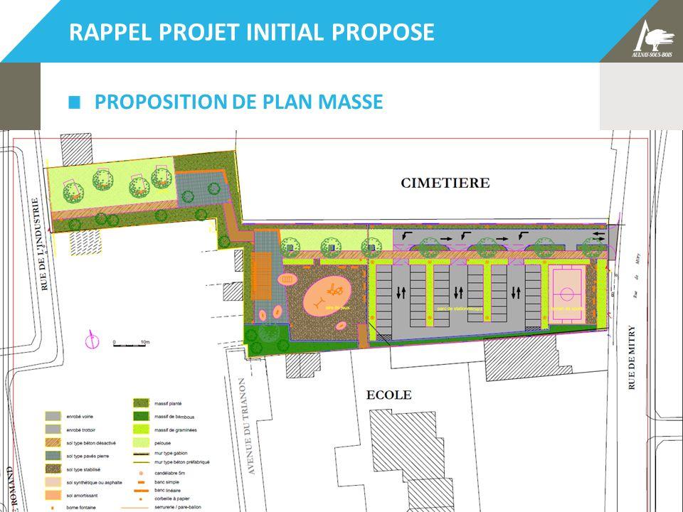 Bilan et restitution concertation projet CMMP – 5 mars 2014 5 RAPPEL PROJET INITIAL PROPOSE PROPOSITION DE PLAN MASSE