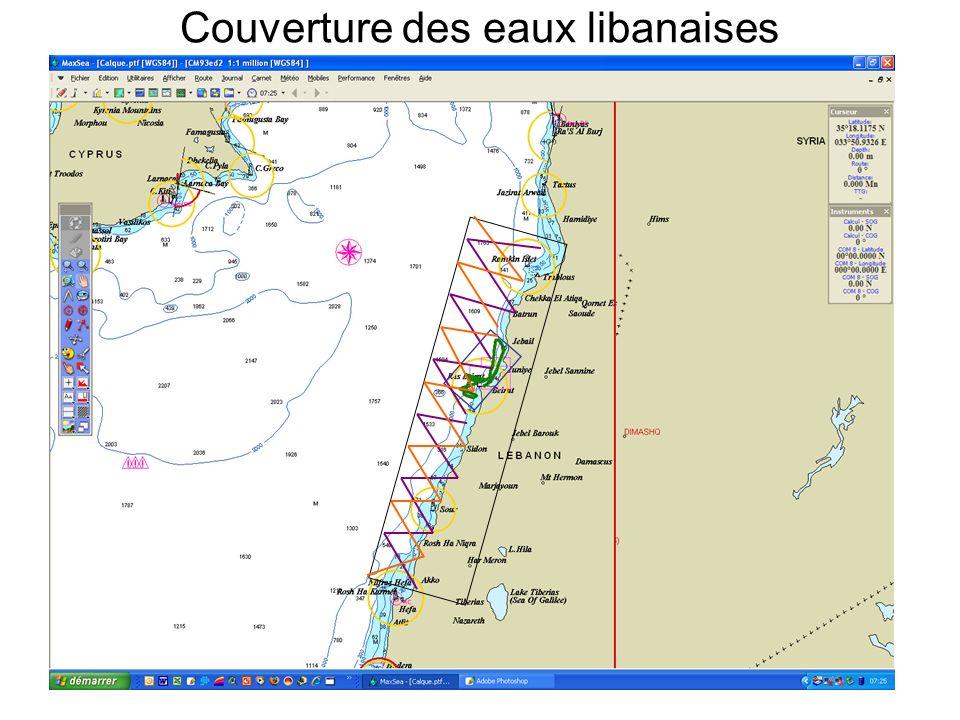 Couverture des eaux libanaises