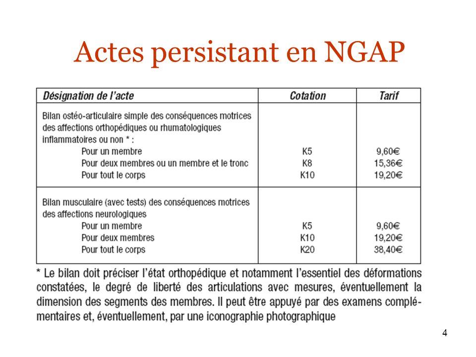 4 Actes persistant en NGAP