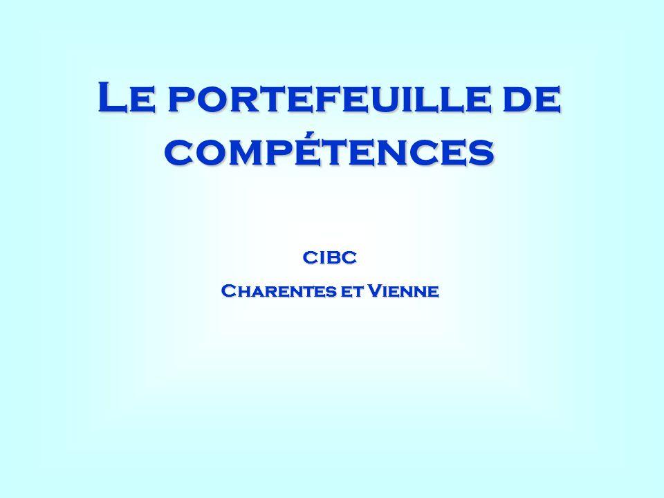 Le portefeuille de compétences CIBC Charentes et Vienne