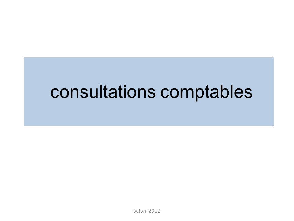 consultations comptables salon 2012