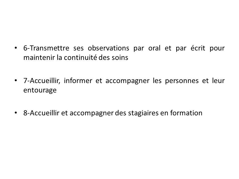 Référentiel de compétences : Annexe II arrêté du 16/01/2006 : VAE en vue DEAP U1.