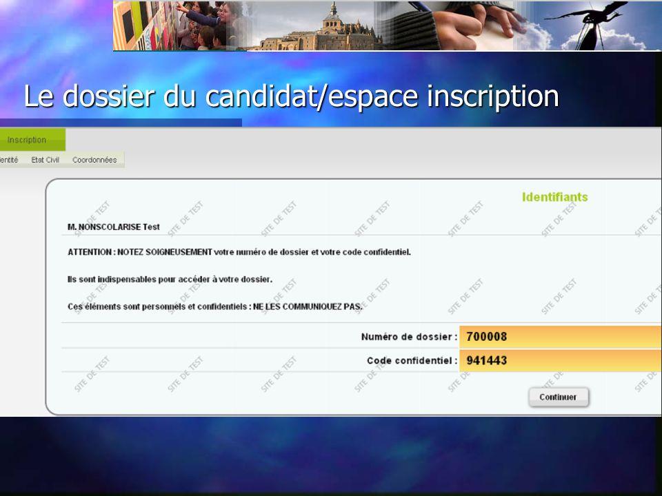 Le dossier du candidat/vœux/ candidatures 3 détails