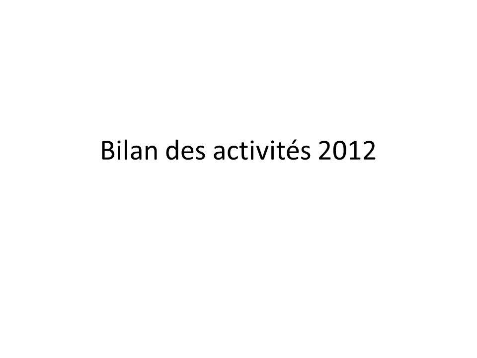 Bilan des activités 2012