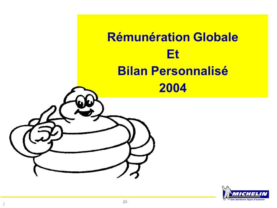 D3 2 Le bilan de rémunération globale 2003 distribué en mai 2004 est une opération globalement positive.