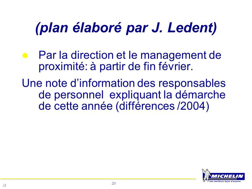 D3 18 Par la direction et le management de proximité: à partir de fin février. Une note dinformation des responsables de personnel expliquant la démar