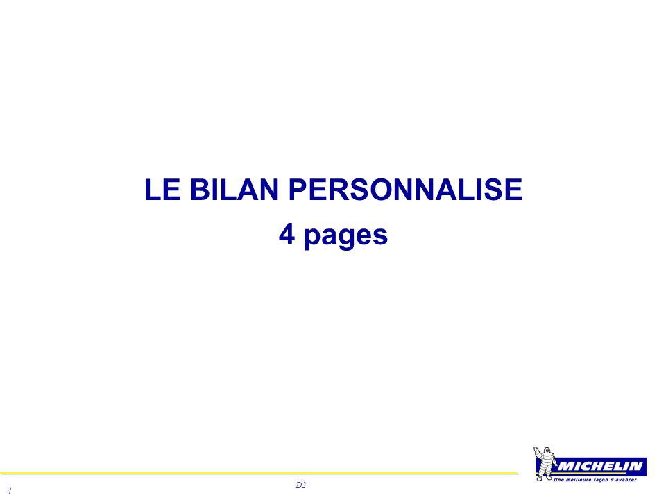 D3 4 LE BILAN PERSONNALISE 4 pages