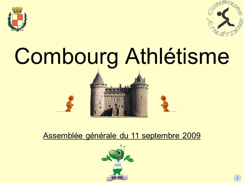 1 Combourg Athlétisme Assemblée générale du 11 septembre 2009