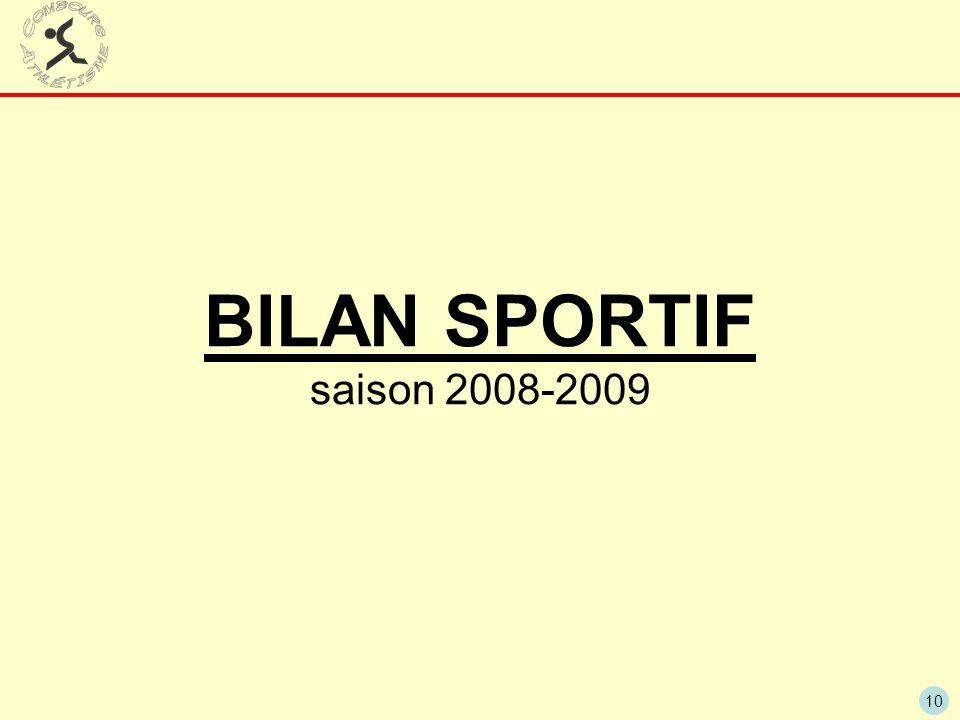 10 BILAN SPORTIF saison 2008-2009