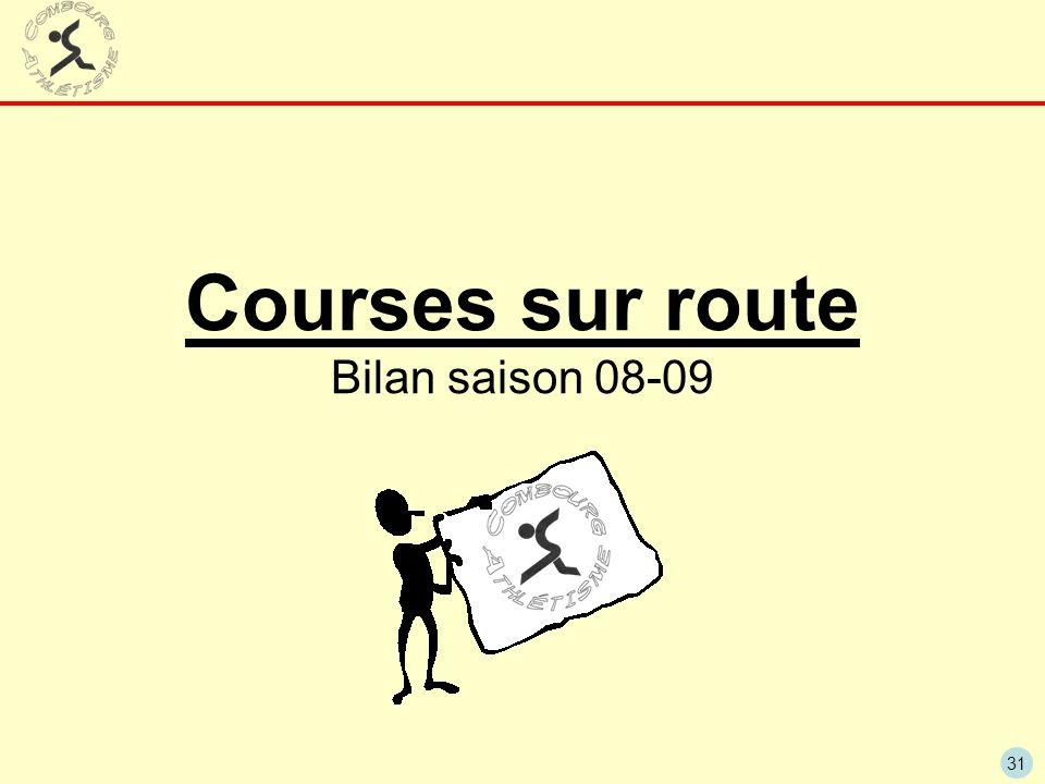 31 Courses sur route Bilan saison 08-09